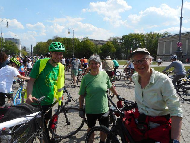 Ortsverband auf der Fahrrad-Demo