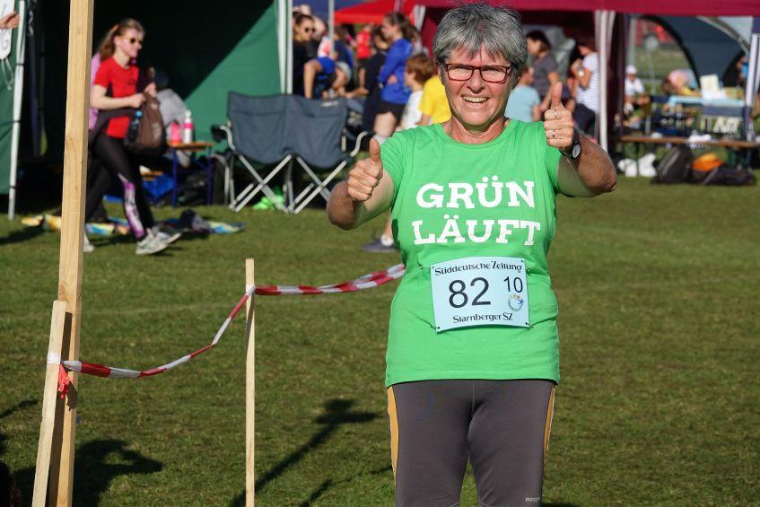 Sibylle Härtl Grüne Feldafing beim Landkreislauf