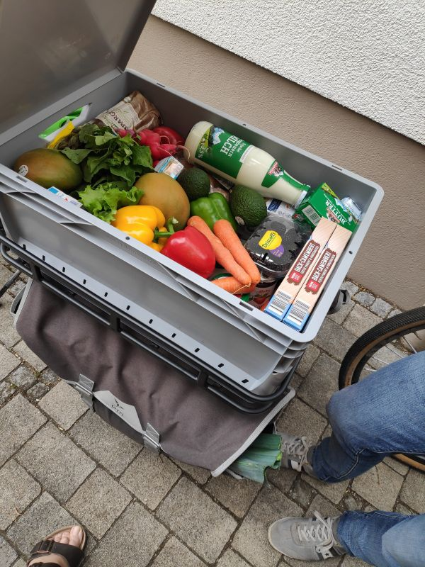Lastenrad für den Einkauf