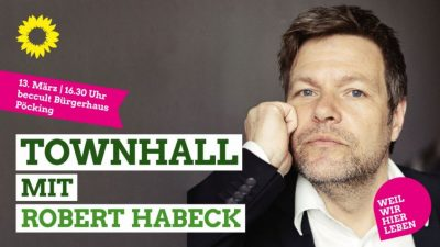 Townhall mit Robert Habeck in Pöcking