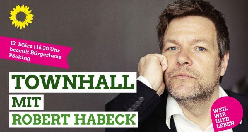 Townhall mit Robert Habeck in Pöcking